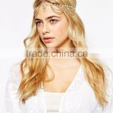 Fashion metal noble gold cystal stone pearls jeweled hair bands hair accessories