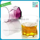 Machine Blown Drinking Brandy Glass Cups Bottom Colored Glass Whiskey Drinking Glass Cups