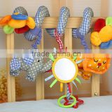 Alibaba hot Baby Bed Hanging Toy/Baby Bed Crib Pram Cartoon Animal Detachable Hanging Bell Plush Toy
