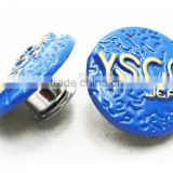 New style silver nickel free jeans button custom design nickel color buttons for jeans washable and hand press