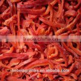 Frozen style red bell pepper strips