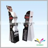 China supplier factory cheap good quality black floor standing recyclable supermarket and shop cardboard bunting stand