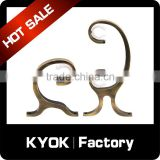 KYOK factory wholesale double curtain rod wholesale,19/22/25mm wall mount brackets,zinc/iron curtain track extension brackets