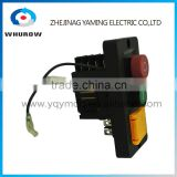 Ignition Momentary Press Push Button Switch YCZ6 Emergency stop FWD-RE 2 wires 16 Pin IP55 Protective cover Waterproof