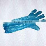Pe long disposable anti static gloves