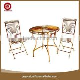 China garden iron folding metal bistro table chair set