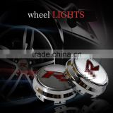 LED Decoration Light for Car Wheel with Metal Chrome Plating Waterproof Maglev Auto Wheel Lights for RIICH