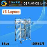 2015 Good Guality 15 Layers Food Trolley For Sale And Stainless Steel Meat Trolley