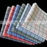 mens quality CHECKED Pocket Square handkerchief LINEN LOOK cotton