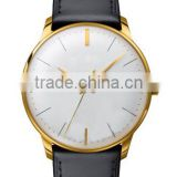 YB 18k gold leather western your logo custom watches