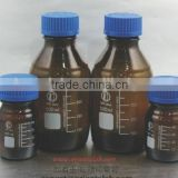 Reagent Bottle, round, amber glass, with GL45 screw cap