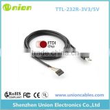 Unioncables FTDI FT232RL chipset 1.8m USB TTL 3.3V 5V Cable