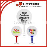 Wholesales Promotional Custom Advertising Printed Plastic Hand Fan                                                                         Quality Choice