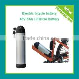 48V 6Ah water bottle battery with water bottle case for electric bike kits 48v 1000w