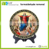 Home decor type Blessed Virgin Mary and angels round decorative catholic religious items