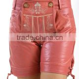 2014 Hot sexy New Fashion Faux Leather Shorts for women Elastic Waist Invisible Tiered Culottes High Waist Shorts Pants