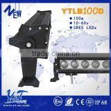 DC12V 100w led light bar Flood Beam, Spot Beam and Combination Beam Available led light with High Quality controller