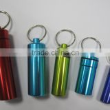 metal mini Aluminum medicine pill bottle keychain                                                                         Quality Choice