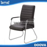 Fashion leather armchair with iron legs modern cheap dining chair