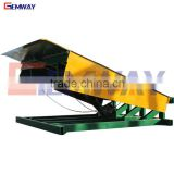 Heavy duty stationary dock ramp for forklift loading and unloading ramps
