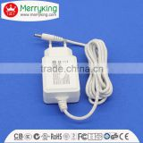 Eco friendly AC DC adapter EU plug 12W travel switching power supply 12V1A with SCP/OLP/OVP/OCP