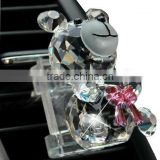 made in china glass/crystal perfume bottle with teddy shape(R-2299