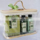 Bath gift set(body lotion,shower gel, flower soap, bath salt)