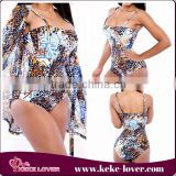 2015 fashionable sexy girls one piece swimwear coloful print bikini sexy swimsuit new model backless women swimwears