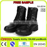 Guangzhou high ankle good price and quality steel toe military boots, soldier boots, tactical boots magnum (SA-8314)