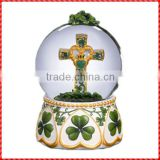 Wonderful custom resin religious cross snow globes wholesale