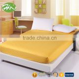 hotel 100%cotton elastic queen/king size jersey knit fitted sheet OEM and factory price
