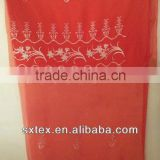 The china style red voile curtain fabric with fancy valance