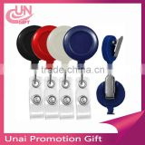 Retractable Lanyard Reel Nylon Cord For ID Card Key Business working badge reel with PVC card holder