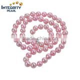 Korean new fashion 7-8mm round pink jewelry gift hot sale freshwater fashion pearl necklace