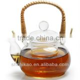bamboo handle tea pot