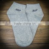 factory wholesale custom grey color tight ankle socks cotton men socks supplier