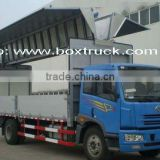 wing opening truck body, closed wing opening truck body, wing opening van body, aluminum truck body, wing open box truck body
