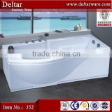 classic design bathtub length 1.8m, body massage bathtub air switch and controller, bubble light bathtub