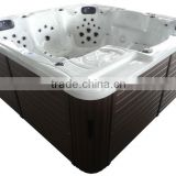 121 JETS LCD control system outdoor whirlpool bath fiberglass tubs China supplier with multitudinous color skirt