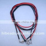 Wholesale hot sale new leather cord necklace with clasps LC0019