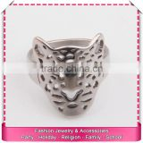 Vintage imitation silver ring with lion head, low price boys rings for sale