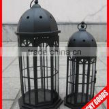 Christmas day decorative black metal lantern candle holders for sale