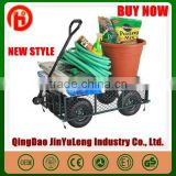 popular heavy load capacity assembled Garden wagon tool cart for Yard Farm Firewood Beach Landscaping