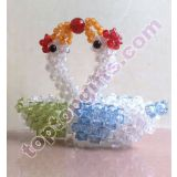 Inquiry about acrylic 3d beaded swan wedding animal figurine gift
