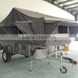 Top 1 Off-Road Hard Floor Forward Folding 7x6ft Camper Trailer With Tent Used Travel Trailer