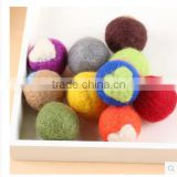 Handmade Colored 100% Wool Felt Balls With Different Diameter