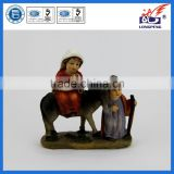 "Nativity, Holy Family Flight to Egypt,The Lodging"" Figure-Joseph with Mary Riding on Donkey on their way to Bethlehem"