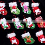 China factory varies of cute type of the fabric stocking hanger holder wool felt Toddler Christmas socks for Xmas tree decor