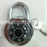 high quality 50mm solid brass combination padlock with master key