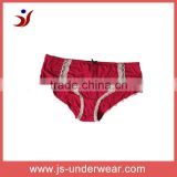 js-235 cute girls cotton underwear with simple lace (Accept OEM)